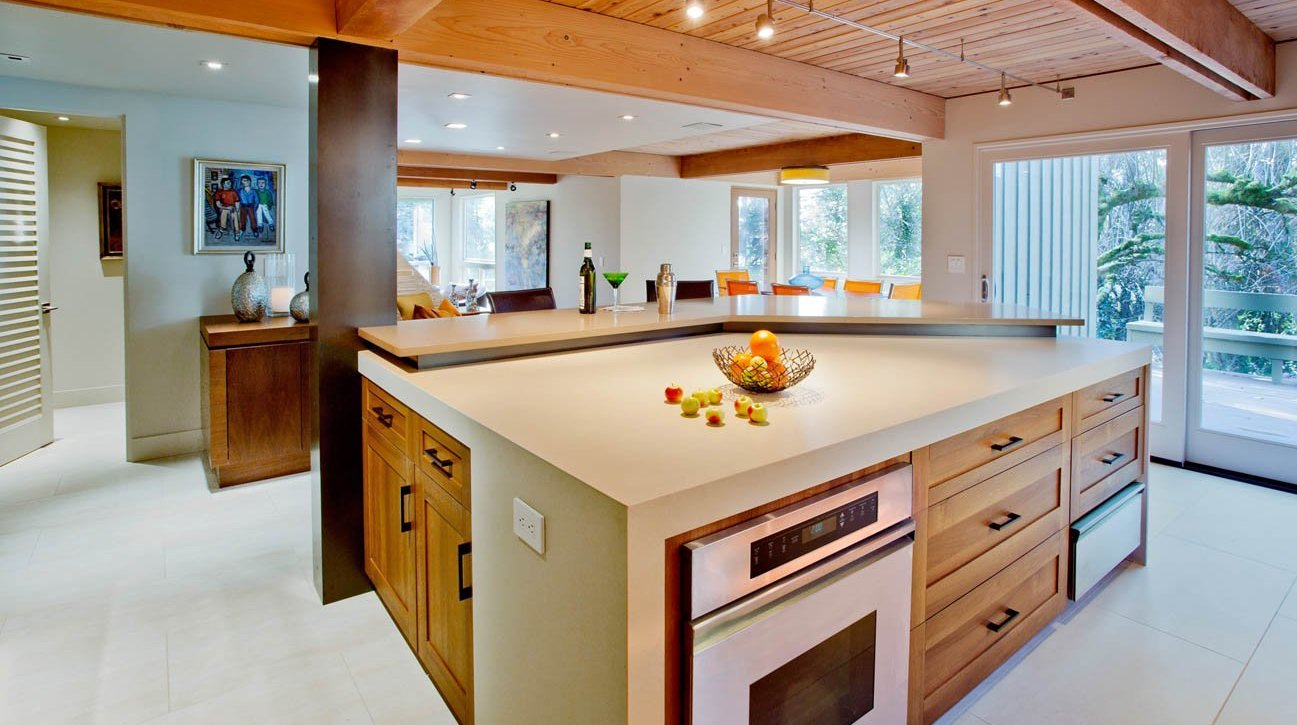 A Modern Kitchen Remodeling Project In Portland, OR Featuring Wooden  Ceilings, Stone Countertops, Part 62